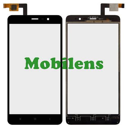 Xiaomi Redmi Note 3, Xiaomi Redmi Note 3 Pro, (высота=147мм) Тачскрин (сенсор) черный, фото 2