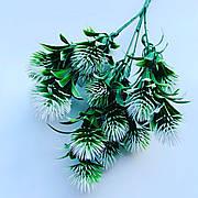 Искусственный, декоративный куст.Репей декоративный ( бело-зелёный 35 см)