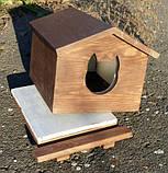 Утеплена будка для котика (30х40 коричнева), фото 2