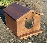 Утеплена будка для котика (30х40 коричнева), фото 3