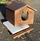 Утеплена будка для котика (30х40 коричнева), фото 4