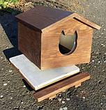 Утеплена будка для котика (30х40 коричнева), фото 5