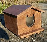 Утеплена будка для котика (30х40 коричнева), фото 6