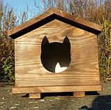 Утеплена будка для котика (30х40 коричнева), фото 7