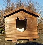 Утеплена будка для котика (30х40 коричнева), фото 8