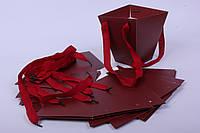 Стильна коробка-трапеція для квітів та подарунків, фото 1