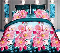 Комплект постельного белья от украинского производителя Polycotton Двуспальный T-90910, фото 1