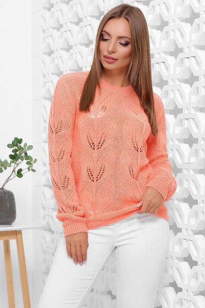Молодежный свитер Стенли персиковый (44-48)
