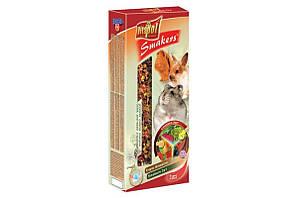 Корм Vitapol Smakers Витапол колба для гризунів мікс овочі,фрукти,рожкове дерево 3шт/уп
