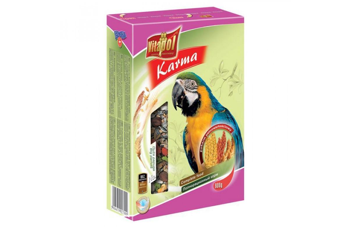 Корм Vitapol Karma Витапол повнораціонний для великих папуг 0,900 гр