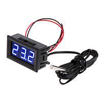 Цифровой термометр -50~110°C, DC 5-12В, с выносным датчиком, синий, фото 1