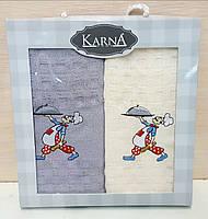 Кухонные полотенца Вафельные (ТМ KARNA) хлопок 4565 (2шт.) Турция 1017797680