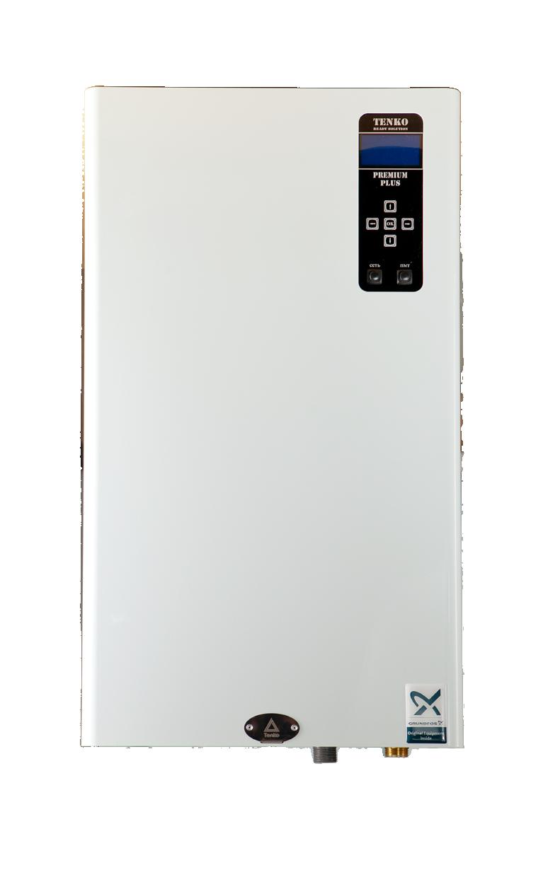 Електричний котел TENKO Преміум Плюс 9 кВт ~ 220В + насос GRUNDFOS
