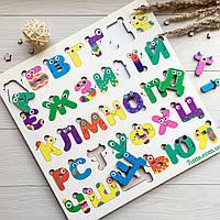 Яркий детский развивающий алфавит из дерева