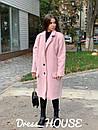 Буклированное Пальто оверсайз с отложным воротником 5pt235, фото 2