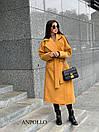 Кашемировое Пальто женское миди под пояс с отложным воротником 17pt236, фото 3