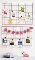 Настенный органайзер Мудборд (moodboard) доска визуализации и планирования, Прямоугольная 45*65 см, розовый