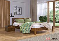 """Кровать двуспальная деревянная """"Рената люкс"""" 160*200 мм. Эстелла Светлый орех (103)"""