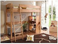 Детская кровать-чердак буковая с лестницей, фото 1