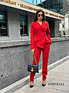 Женский брючный костюм с асимметричным пиджаком 17ks281, фото 2