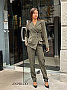 Женский брючный костюм с асимметричным пиджаком 17ks281, фото 4