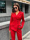 Женский брючный костюм с асимметричным пиджаком 17ks281, фото 5