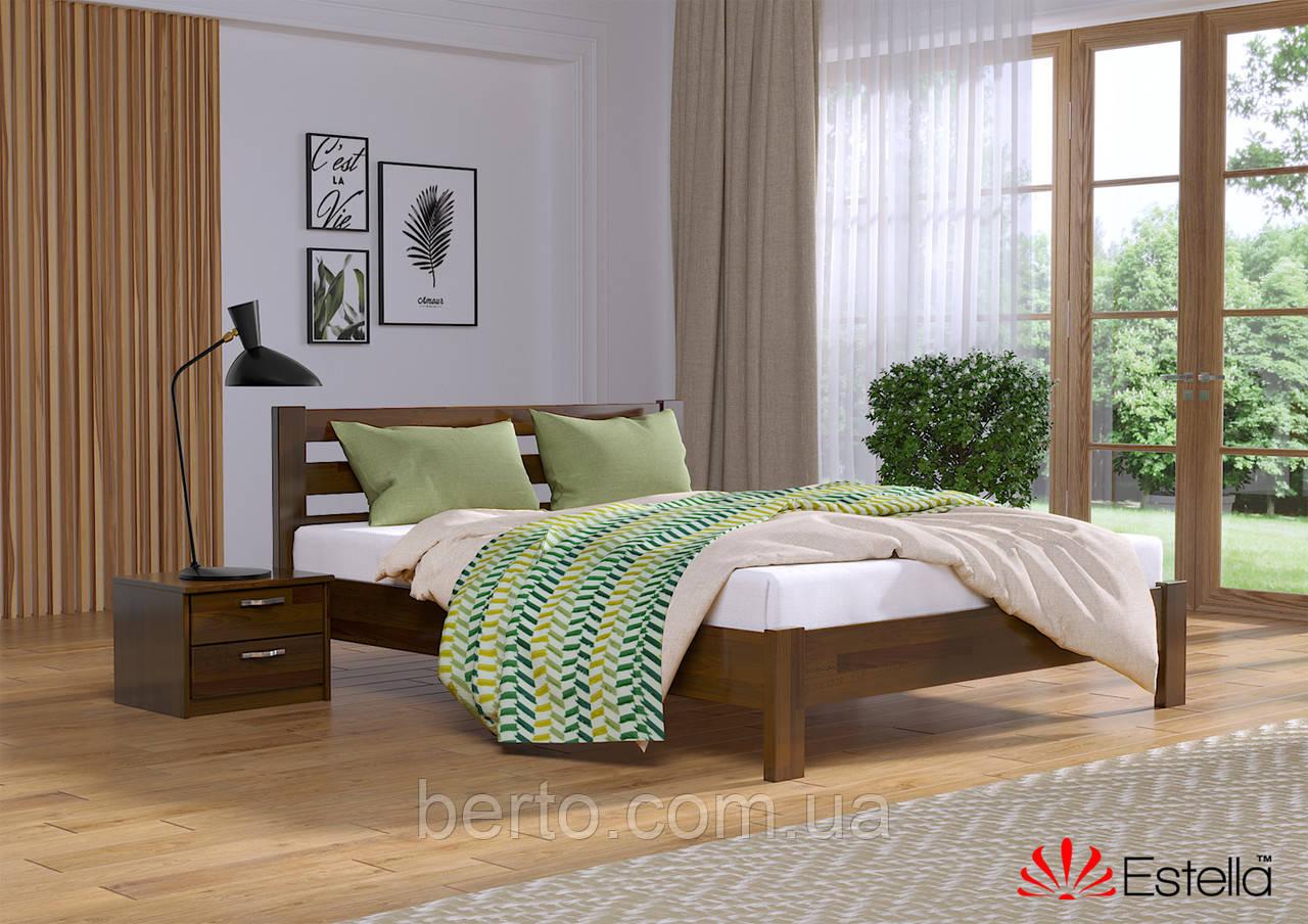 """Кровать двуспальная деревянная """"Рената люкс"""" 160*200 мм. Эстелла"""