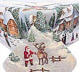 "Наперон\дорожка на стол  ""Рождество в Карпатах"",  45х140 см, люрекс, фото 3"