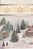 "Наперон\дорожка на стол  ""Рождество в Карпатах"",  45х140 см, люрекс, фото 4"