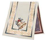 "Наперон\дорожка на стол  ""Рождество в Карпатах"",  45х140 см, люрекс, фото 2"