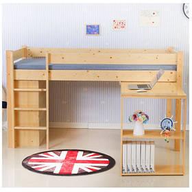 Підліткове ліжко горище з висувним столом і стелажем