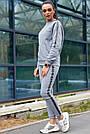 Толстовка женская серая, р. от 40 до 50, трёхнитка на флисе, фото 5