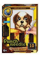 """Ковровая вышивка """"Punch needle: Щенок"""" PN-01-04 PN-01-01,02,0 sco"""