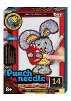 """Ковровая вышивка """"Punch needle: Зайка"""" PN-01-10 PN-01-01,02,0 sco"""