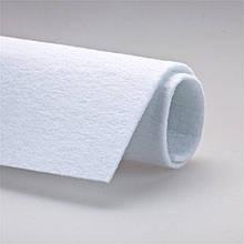 Белый войлок толщиной 4мм, 5мм, 10мм, 15мм ширина 2000мм Плотность 200 г/м. кв