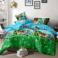 Детское постельное белье полуторное односпальное TM Krispol 150*220 майнкрафт 173082 с