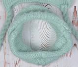 В'язаний зимовий шарф-хомут, фото 5
