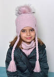 В'язаний зимовий шарф-хомут, фото 7