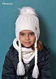 В'язаний зимовий шарф-хомут, фото 8
