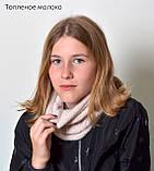 В'язаний зимовий шарф-хомут, фото 9