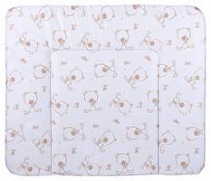 Пеленальный матрас Ceba Baby WD 85*70 multi  мишки белый