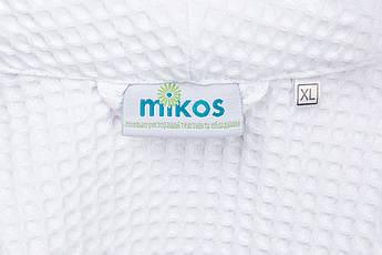 Мужской халат XL, вафельный,белый,100% хлопок, фото 3