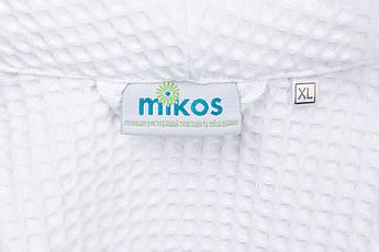 Мужской халат XXL, вафельный,белый,100% хлопок, фото 3