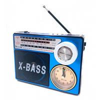 Радиоприёмник + часы + фонарик + портативная колонка 4в1 Golon RX-722 LED