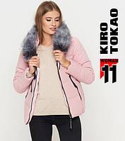 11 Киро Токао | Женская зимняя куртка 6529 пудра