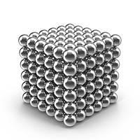 Конструктор-головоломка UTM Neocube 216 шариков Silver, фото 1