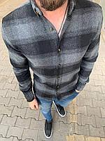 😜Рубашка - мужская теплая байковая рубашка голубая