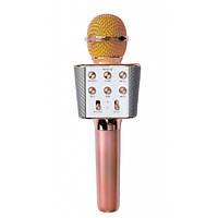 Микрофон-Караоке Bluetooth WSTER WS-1688 Rose