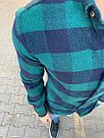 😜Рубашка - мужская теплая байковая рубашка зеленая, фото 2