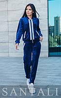 Велюровый женский спортивный костюм с кофтой на молнии 45rt797